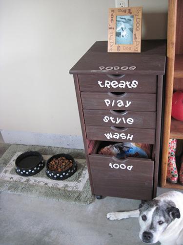 dog storage drawers