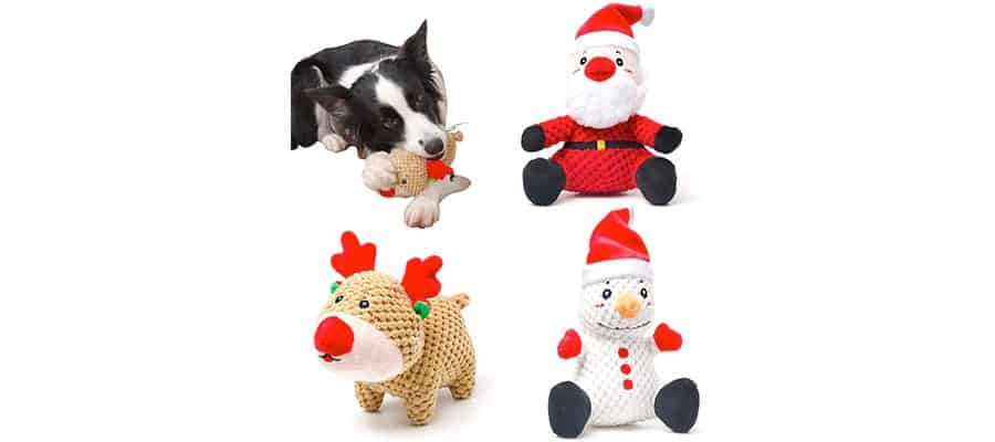 christmas squeaky toys pack