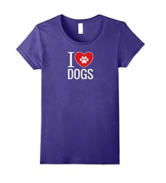 purple dog shirt