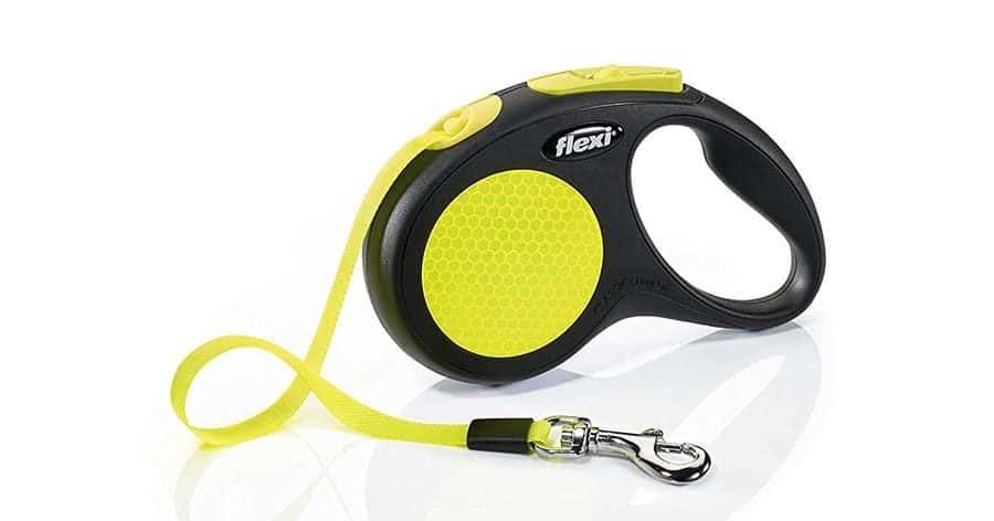 Flexi New Neon Reflective Retractable Tape Leash