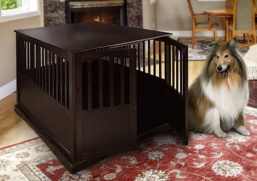 Wood Crate Dog House
