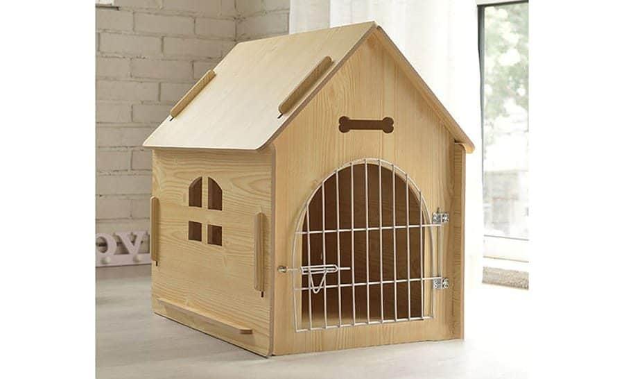 Wood Dog House with Door