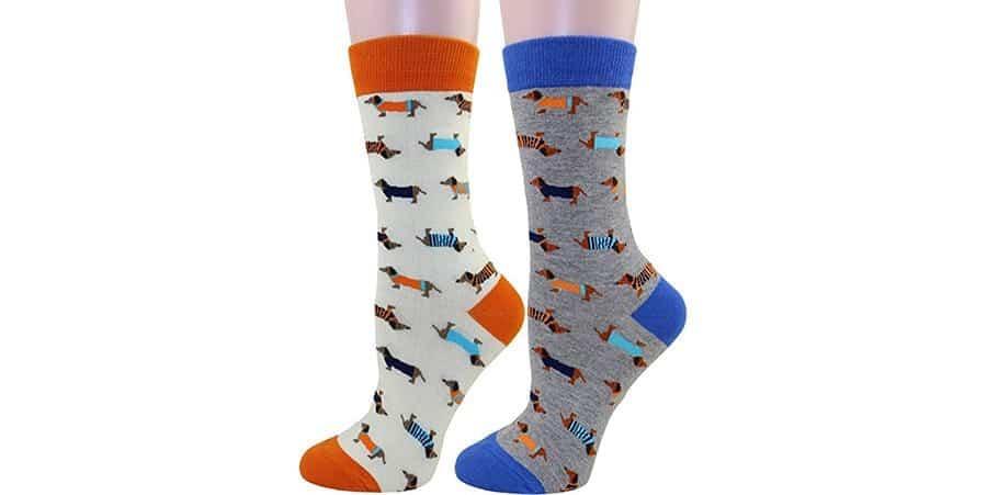 Weiner dog socks