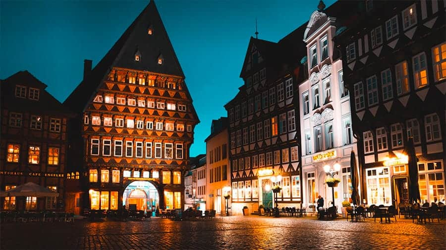 street in Germany at night