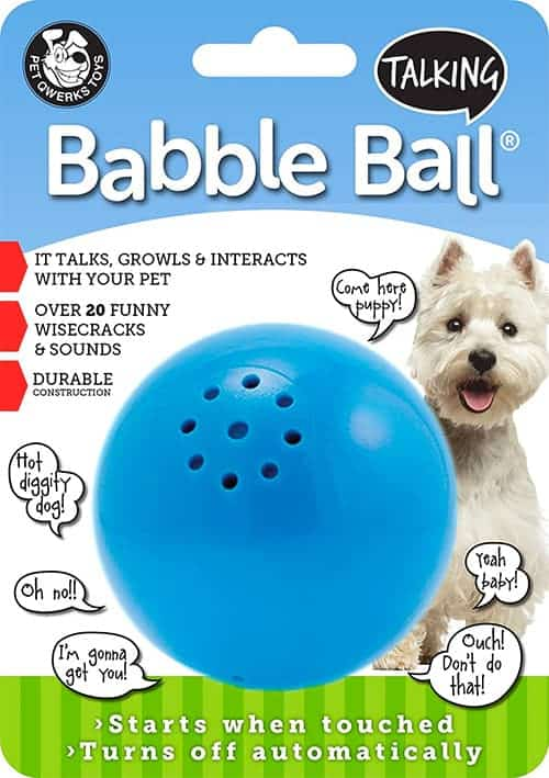 babble ball dog toy
