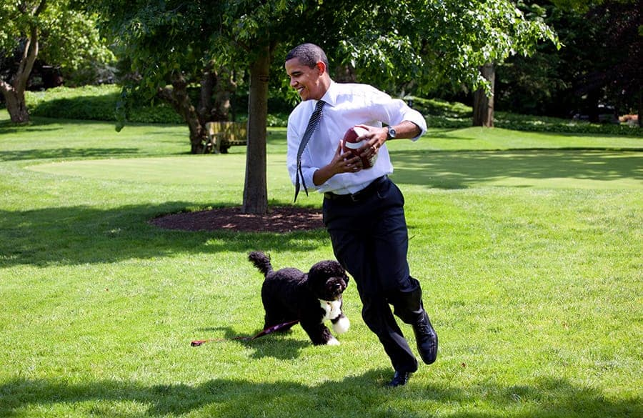 obama with his dog