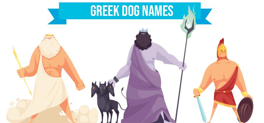 greek dog names illustration of gods