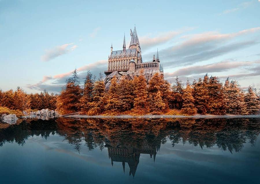 Hogwarts castle from harry potter